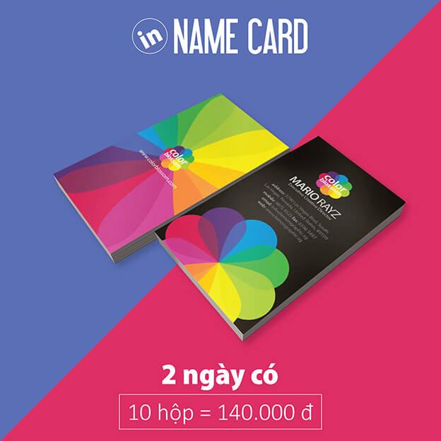 In card visit lấy ngay bằng kỹ thuật số